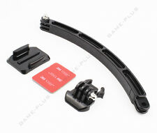 Helmet Extension Self Photo Arm Kit + Curved Adhesive Mount For GoPro Hero 5 4 3