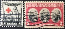 Two 1931 2c commemorative singles, Scott #702-703, Used, F-VF