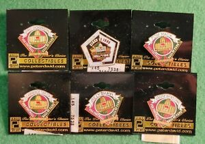 LOT (6) 1999 PRO FOOTBALL HALL OF FAME LAPEL PINS TAYLOR DICKERSON SHAW MACK