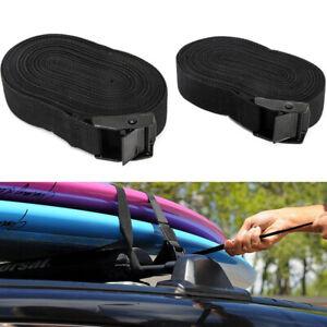 2PCS 15FT Multi-functional Car SUV Roof Luggage Rack Kayak Surf Tie Down Straps