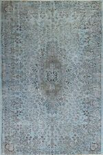 6x9.8 Ft  Light Blue & Gray color OVERDYED Handmade Vintage Turkish RUG a249