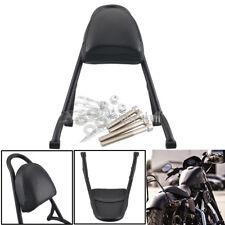 Black Passenger Sissy Bar Backrest Pad For Harley Sportster XL883N 1200 85-18