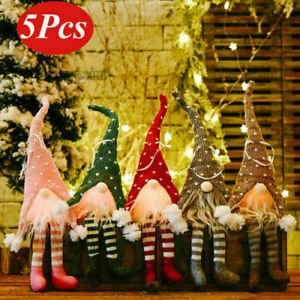 5X Christmas Gnomes Plush Santa Doll Xmas Gonk Dwarf Elf Decoration Ornaments