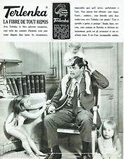 PUBLICITE ADVERTISING 115  1965  TERLANKA  sous vetements enfant
