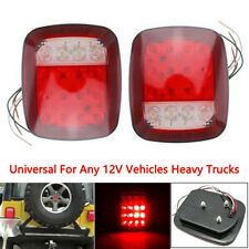 2x 16LED Stop Tail Lights Rear Brake Turn Stop Lamps Fit for Jeep Wrangler TJ CJ