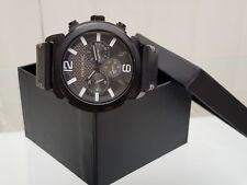 Genuino Reloj para hombre de diseñador de policía negro concepto día y fecha RRP £ 250 (PO100