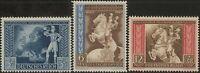 Stamp Germany Mi 820-2 Sc B209-11 1942 WW2 Reich Vienna Horse Axis Powers MNH