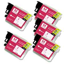 5PK MAGENTA Ink Cartridge Compatible for Brother LC61 MFC J415W J615W J630W