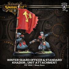 Warmachine Khador Winterguard Officer & Standard PIP 33048 Blister NEW