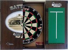 Unicorn Eclipse Pro 2 Dart Board & Battlers Bar Wooden Dart Cabinet + 6 Darts