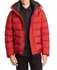 Authentic Burberry Brit Hartley Down Puffer Jacket NWT Red Medium