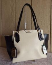 f5dc1c2d87de NWT Lauren Ralph Lauren Leather Modern Shopper Tote Bag IVY BLK MSRP  198
