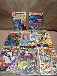 Vtg Lot Of 8 Late 60s & 70s DC Comics Batman,  Deadman, Brave And The Bold/Flash