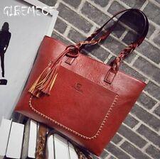 Leather Handbag Bolsas Mujer Large Vintage Tassel Shoulder Bags Women Shopping