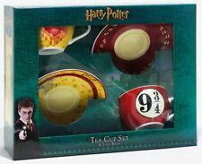 Harry Potter Ceramic Coffee Mug Tea Cup Saucer Set Platform 9 3/4 Marauder's Map