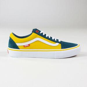 Vans Old Skool Pro Prime Shoes Trainers – Atlantic/Gold in UK Size 7,8,9,10
