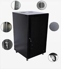 22U Wall Mount Network Server Cabinet Rack Enclosure mesh Door Lock  600MM Deep