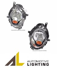 Mini Cooper S R55 R56 R57 Set of Left and Right Halogen Headlight Yellow Signal