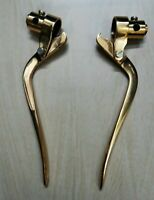 Custom Chopper Bobber Vintage Harley Brass Inverted Brake & Clutch Levers For RE