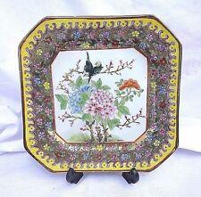 Antique Vintage Macau Chinese Porcelain Plate Square