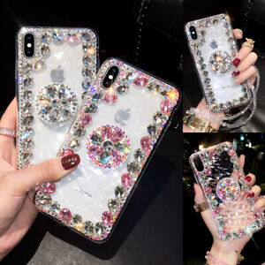 Bling Glitter Diamond Case w/ Phone Holder For iPhone 12 11 Pro Max XS XR 6 7 8