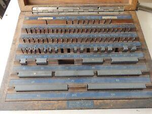 Select tungsten carbide metric slip gauge set incomplete