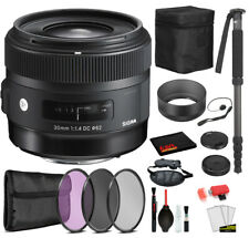 Sigma 30mm f/1.4 DC HSM Art Lens for Canon EF  with Bundle