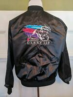 Vintage L/XL Excellent Kentucky Derby 119 1993 Churchill Downs Satin Jacket Rose