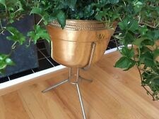 "Vintage Mid century Modern Brass plant stand/tripod "" Contempora""/bullet planter"