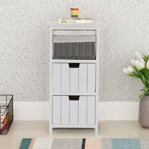 Bedside Tables Cabinets Unit Lamp Side Table Bedroom Furniture 2 Drawers White