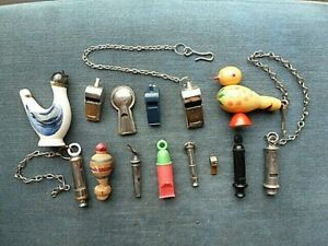 (M) COLLECTION OF 14 VINTAGE WHISTLES