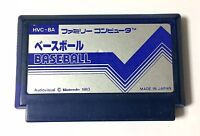 USED Nintendo FC BASEBALL JAPAN NES Game Soft Only Famicom Family Computer