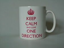 Novelty mug..Keep calm and love one direction, birthday gift,personalised