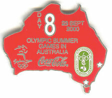 2000 SYDNEY OLYMPIC COCA COLA PIN OF THE DAY SILVER PIN SET DAY 8