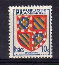 France Yvert n° 834 neuf sans charnière - variété