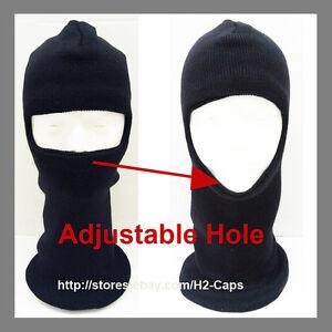 Ski Mask Black One Hole Stretchable for Winter Sports Ski Snowboard