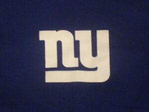NFL Reebok New York Giants Eli Manning #10 Blue Graphic Print T Shirt L