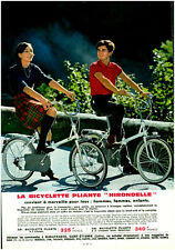 Publicité ancienne bicyclette pliante Hirondelle 1968 issue de magazine