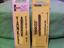 Stanley Yankee Bits 1 & 2 Flat Tip For Stanley 133 233 135 Handyman Craftsman