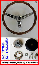 1968 Chevrolet Camaro Grant Real Wood Steering Wheel walnut 13 1/2""