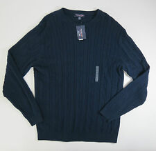Roundtree & Yorke Mens Navy Blue  Crewneck Sweater Big Man Size 2X