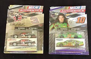 Nascar Authentics Danica Patrick & Dale Earnhardt 1:64 Die Cast Cars NIP