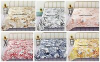 Owl Bird Print Kantha Quilt Indian Queen Size Bedspread Bed Cover Throws Ralli