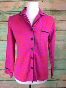 Xhilaration Women's Long Sleeve Red Leopard Print Pajama Top Size XS