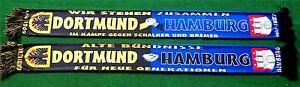 """Dortmund Hamburg Freundchafts POLY-SCHAL """"WIR STEHEN ZUSAMMEN"""" NEU Fan Block"""