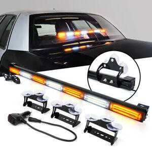 Xprite 31inch LED Strobe Light Bar Amber Windshield Interior Dash Emergency Lamp