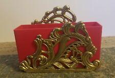 Vintage Brass Letter or Napkin Holder Teleflora.