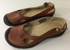 KEEN Brown CUSH  Mary Janes LEATHER  Adjustable Strap Women's Shoes US 7 EU 37.5