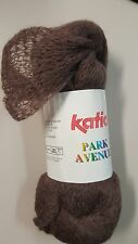 Katia Park Avenue Magic Scarf Yarn #104 Brown 100g Frilly Soft Lace Mohair Mix