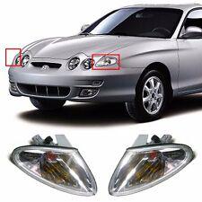Front Turn Signal Lights Lamp Clear Set for OEM Parts Hyundai 1999-2001 Tiburon